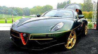 Chantilly Art et Elégance . Alfa Roméo Touring Disco Volante