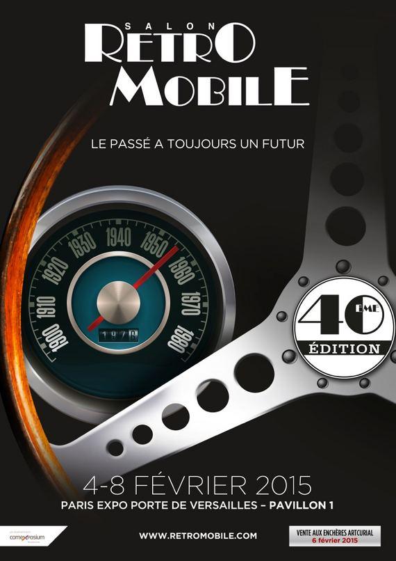 Affiche Retromobile 2015